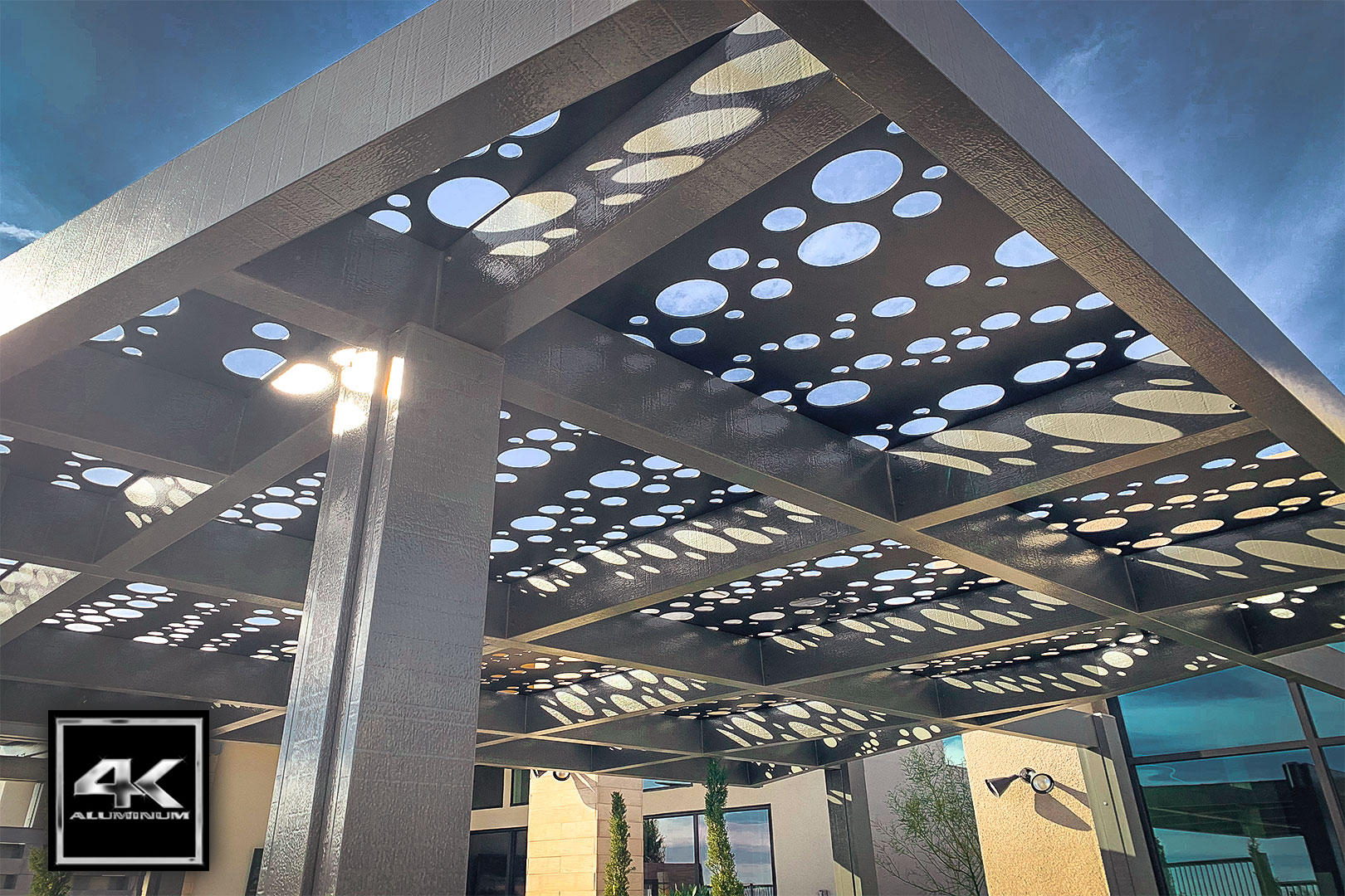 laser cut metal pergola soleil panels