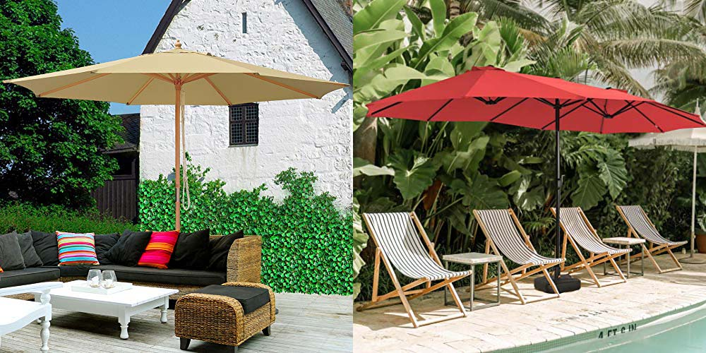 Extra Large Patio Umbrella, Large Patio Umbrellas With Lights