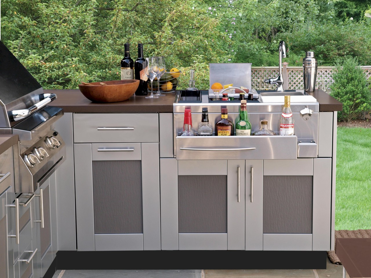 brown jordan outdoor kitchens overstock kitchen sinks that add value to homes patio and hearth blog
