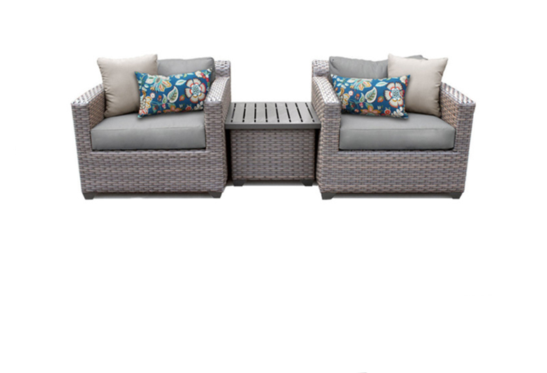 3 Piece Outdoor Wicker Patio Furniture, 3 Piece Wicker Patio Furniture Set