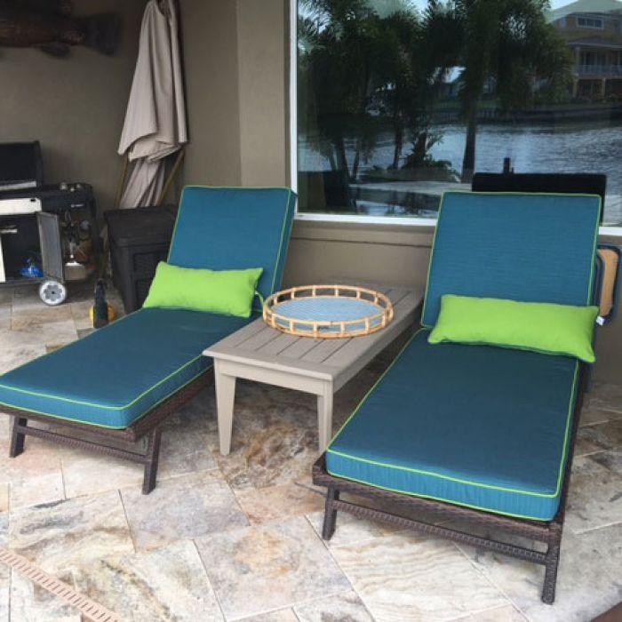custom outdoor chaise cushions