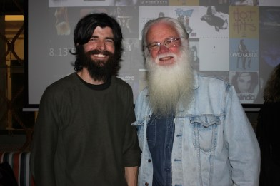 Collaborators filmmaker Michael J. Lutman and Neil Blake from Bay Keeper / Eco Centre