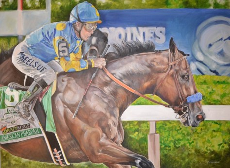 By Janette Hammill titled 'American Pharaoh'