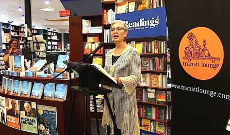 Author Margi Gibb launching her book Kissed by a Deer - a Tibetan Odyssey at Readings in Hawthorn.