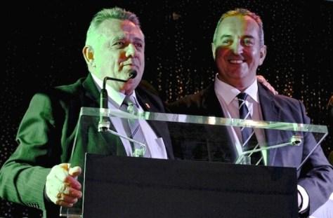 Carltonian Vice President John Redman and President Vince Loccisano.