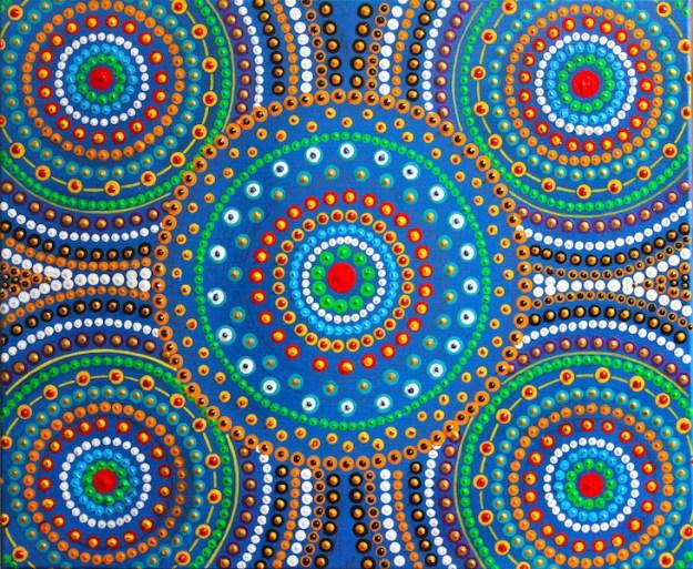 Kaleidoscope - expanding opportunities. 61 mm x 51 mm Acrylic on canvas Dino Damiani 2017 $300