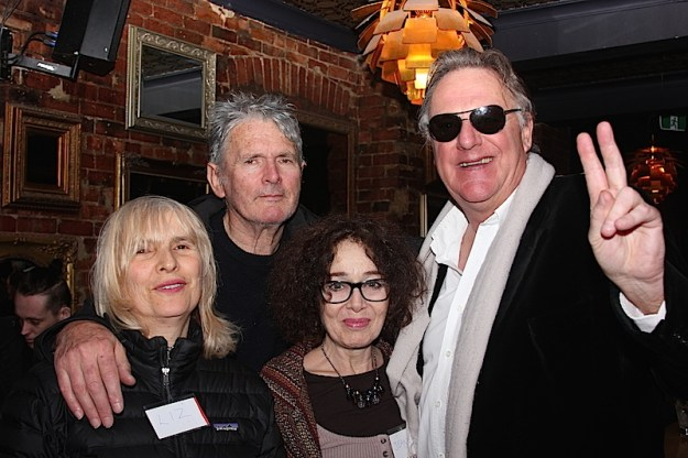 Coin Talbot with partner Liz with Jean and Wilbur Wilde MC for the evening