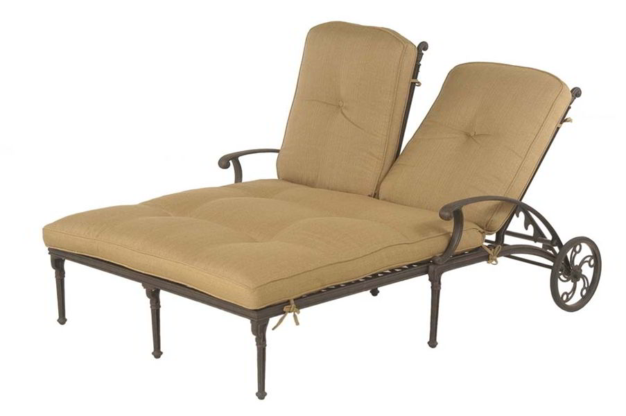 outdoor double chaise lounge cushions