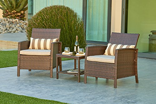 Solaura Outdoor Furniture 3-Piece Bistro Set All Weather
