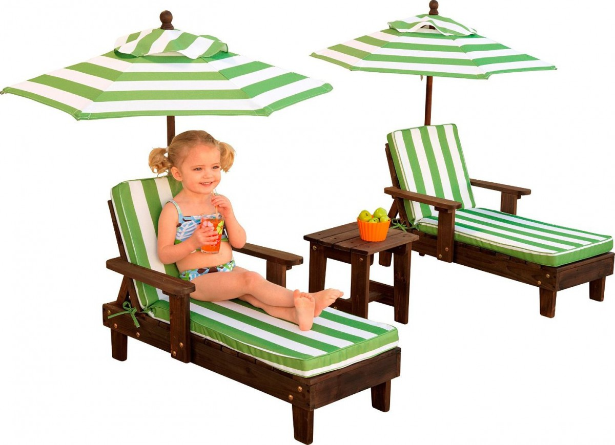 Child Patio Chair Kidkraft Outdoor Chaise Lounge Chairs And Umbrella Set