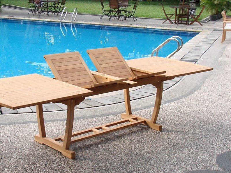 Grade-A Teak 117' Wood Rectangular Outdoor Dining Table