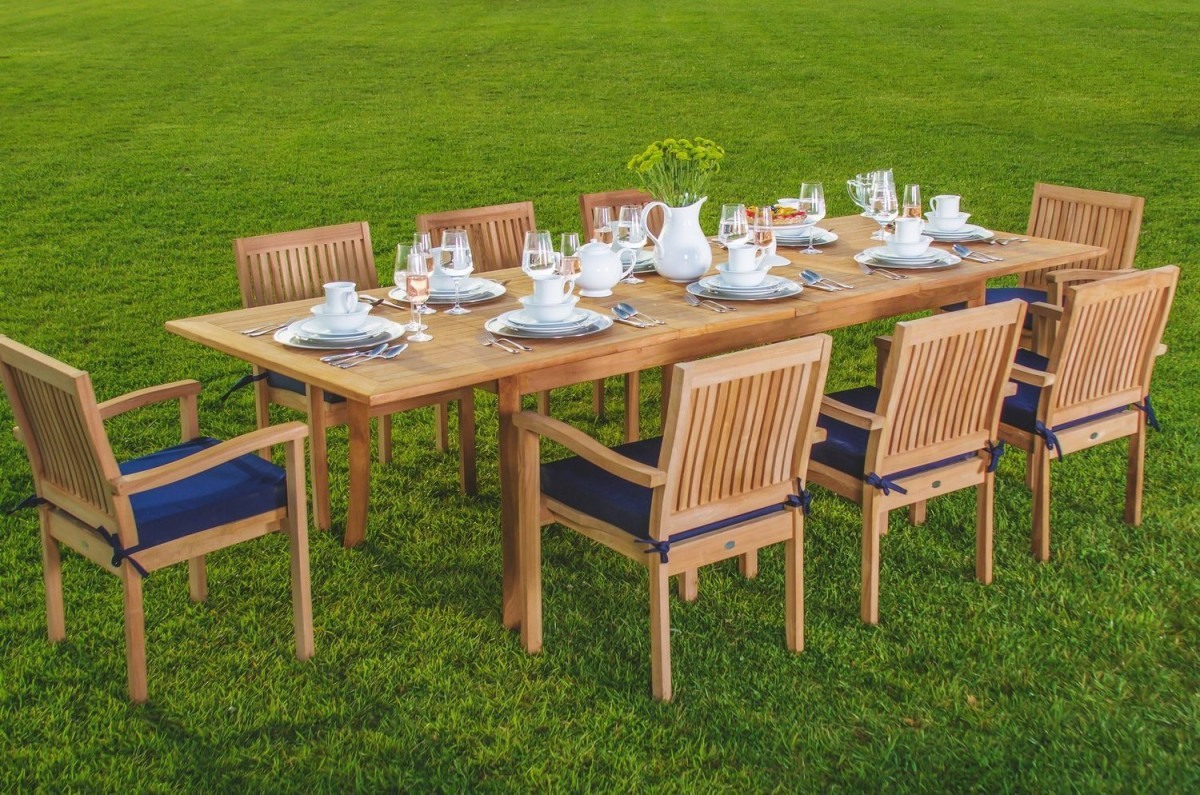 Restaurant Patio Chairs Wholesaleteak 9 Piece Grade A Teak Outdoor Dining Set With