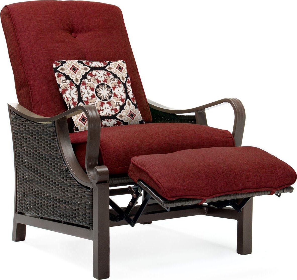 Outdoor Recliner Chair Hanover Ventura Luxury Resin Wicker Outdoor Recliner Chair
