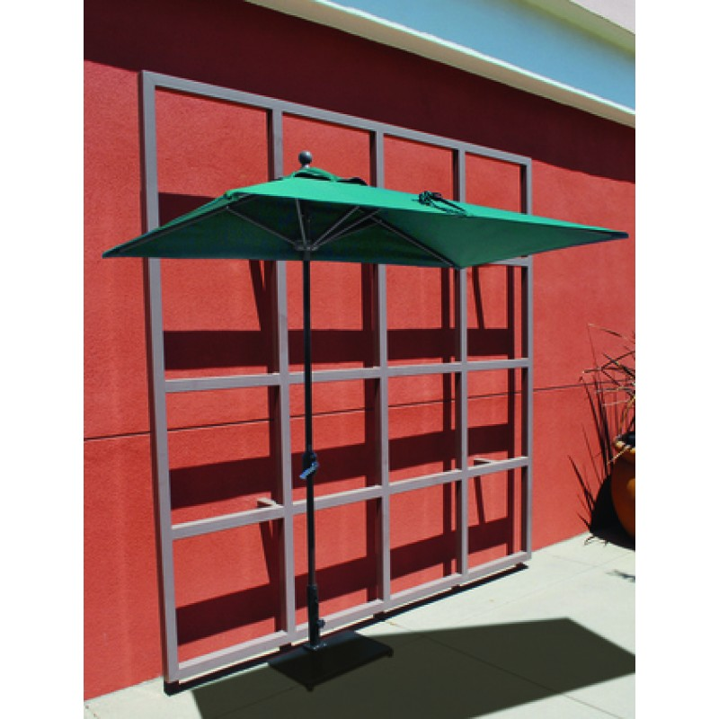 Galtech 35x7 Half Wall Commercial Patio Umbrella