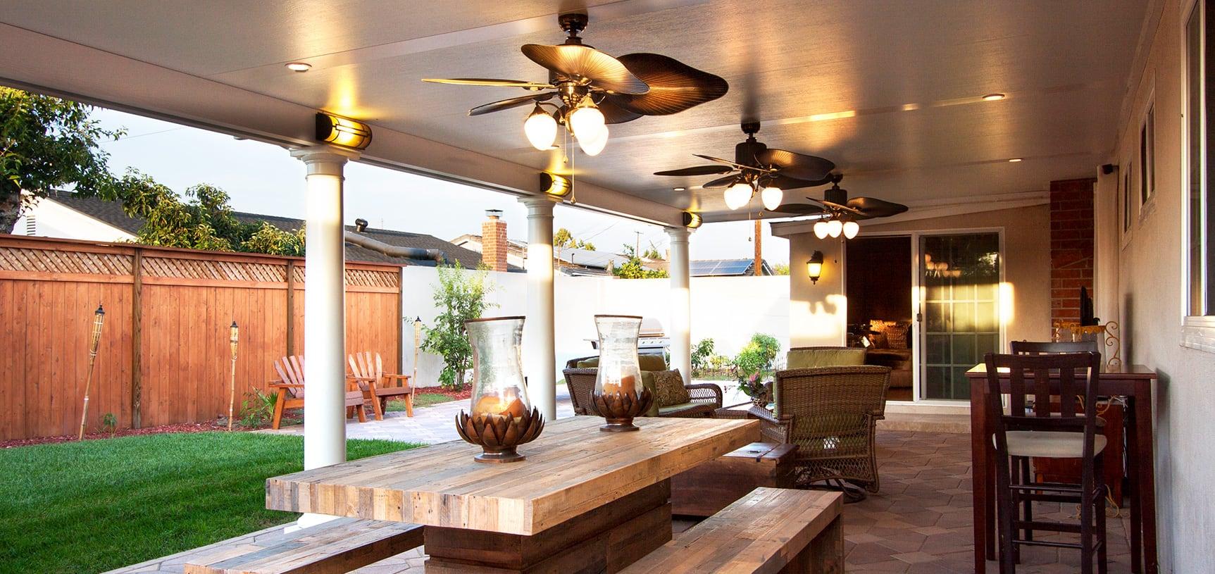 ideas for aluminum patio covers