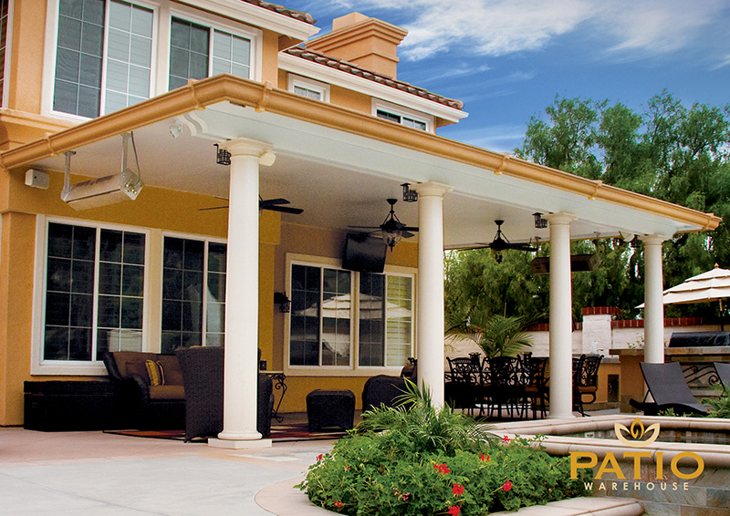 elitewood solid patio cover in orange