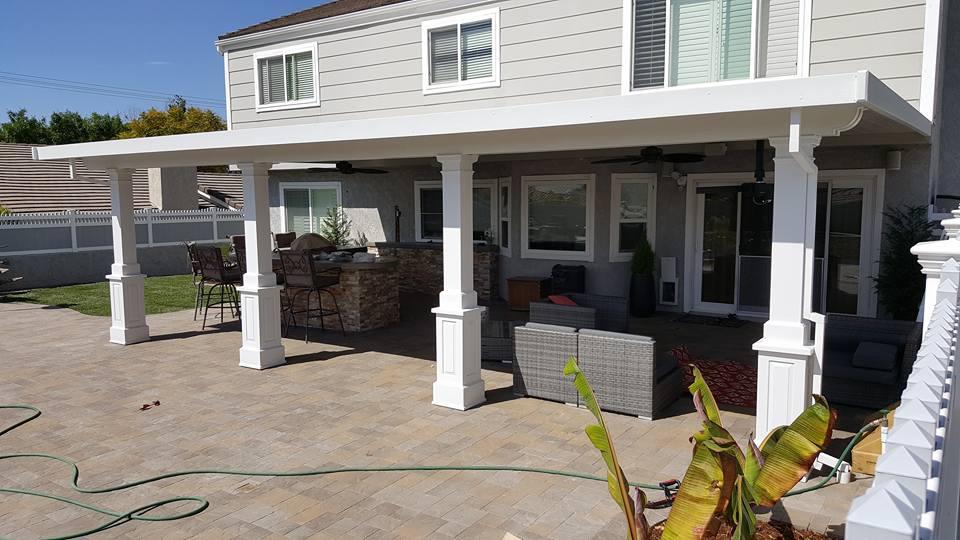 aluminum patio cover installation
