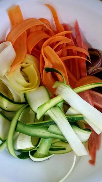 רצועות ירקות