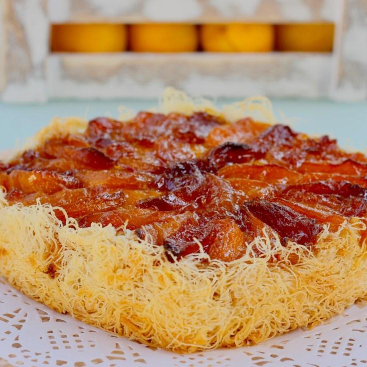 טארטאיף - טארט קדאיף, גבינה אפויה ומשמש