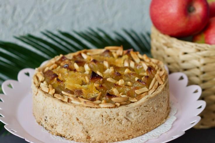 טארט תפוחים, קרם שקדים וקרמל
