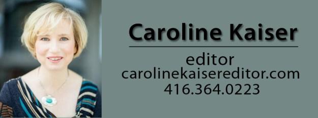 Caroline Kaiser Book Editor