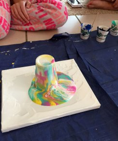 Acrylic Pour/Swipe Art, step 1