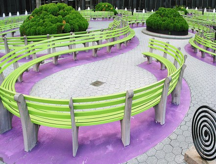 Swirling Benches NYC