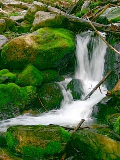 Waterfall small creek w rocks
