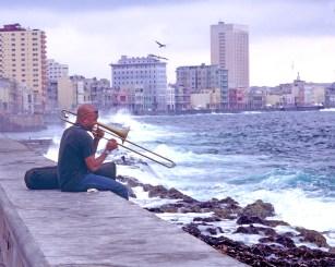 cu trombone player daytime
