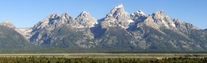 Grand Tetons from Snake River Valley