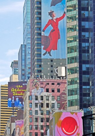 Mary Poppins Above Times Square, New york