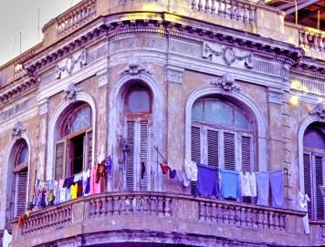 Balcony and Laundry Sunset, Havana
