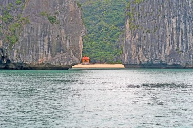 Ha Long Bay Temple and Cliffs