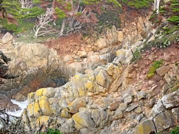 Monterey point lobos ridges abstract