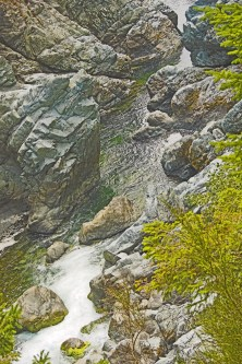 Smith river rapid rocks sunset
