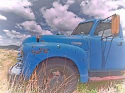 blue truck clouds