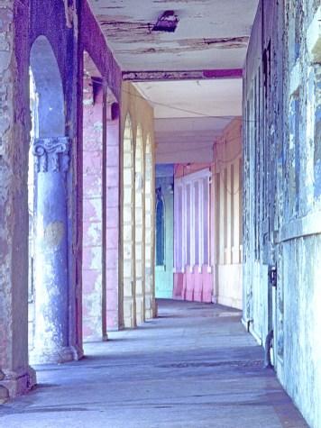 Columns and Sidewalk on Malecon,Havana