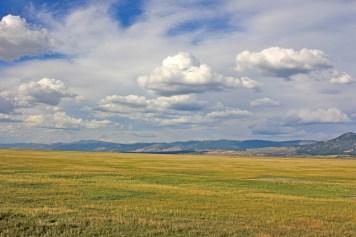 goose lake prairie clouds