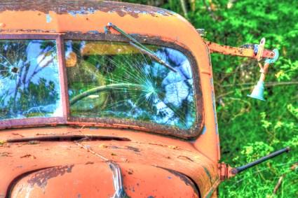 orange truck pass bullett hole hdr