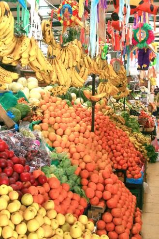 san miguel market bannanas apples