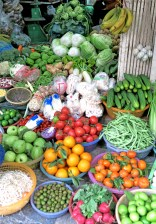 vietnam veggies with banannas