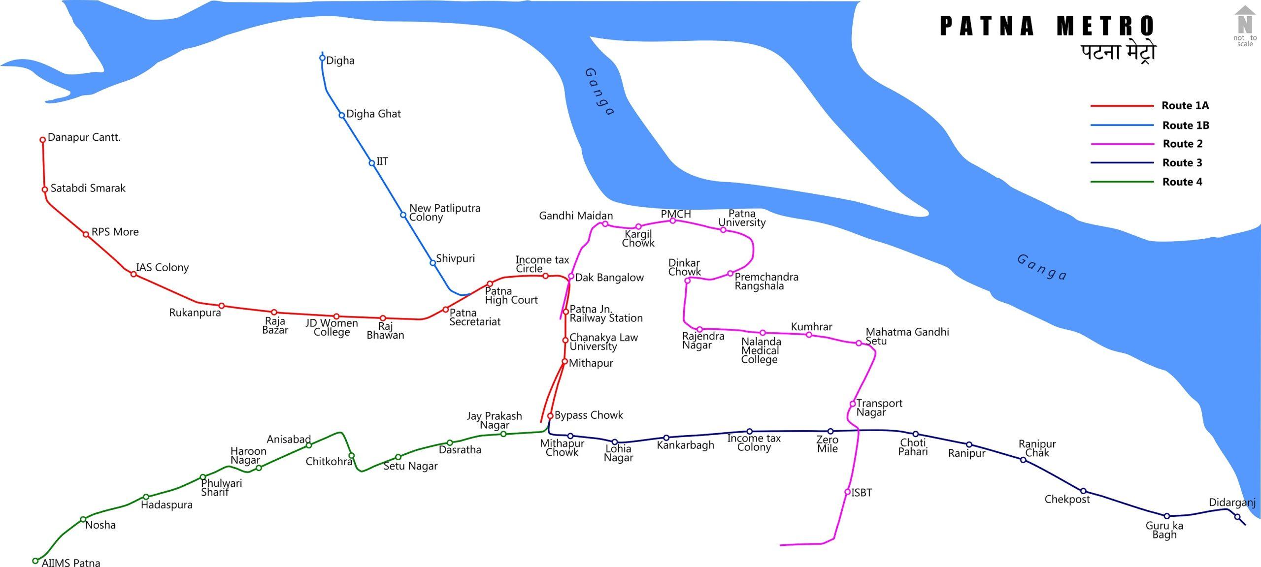 Patna_metro_map_map