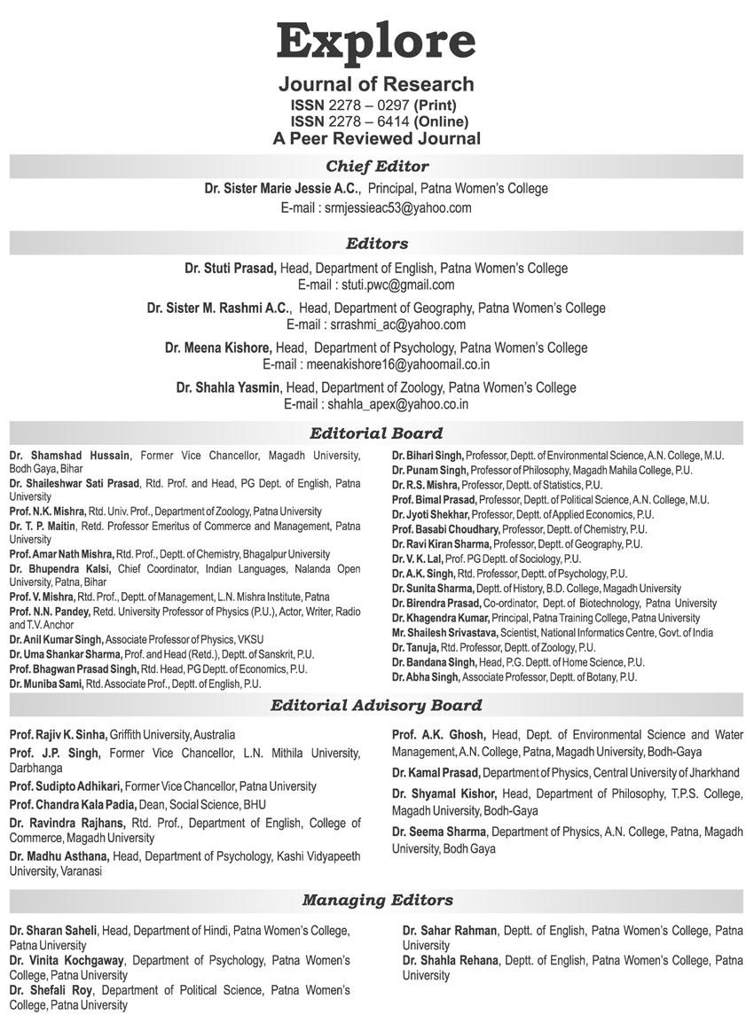 Top College in Patna   Editorial Board