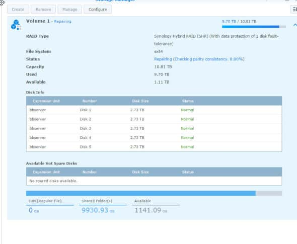 Synology Degraded Mode Repair 3