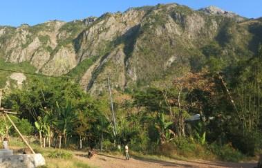 The village of Afaloeki lies nestled below Mount Matebian.