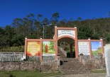 The colourful gateway to the mountain features prayers and a picture of St. Francis of Assisi.