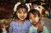 Young Burmese girls, Mandalay