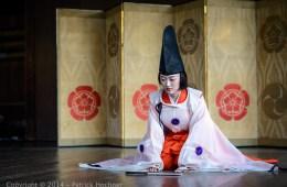 Danseuse Shirabyoshi, Kyoto, Japon