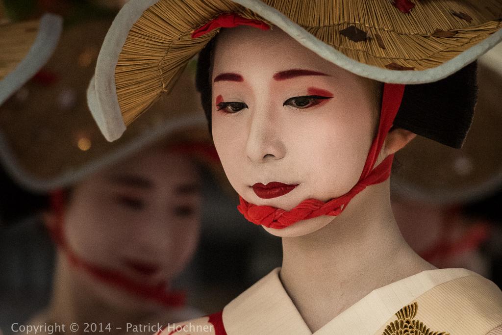 Maiko at the Hanagasa Junko, Kyoto, Japan