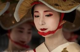 Maiko à la parade Hanagasa, Kyoto, Japon